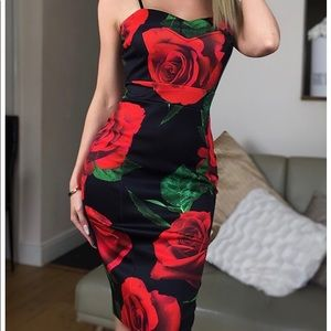 🌹❤️Floral panel dress 🌺❤️